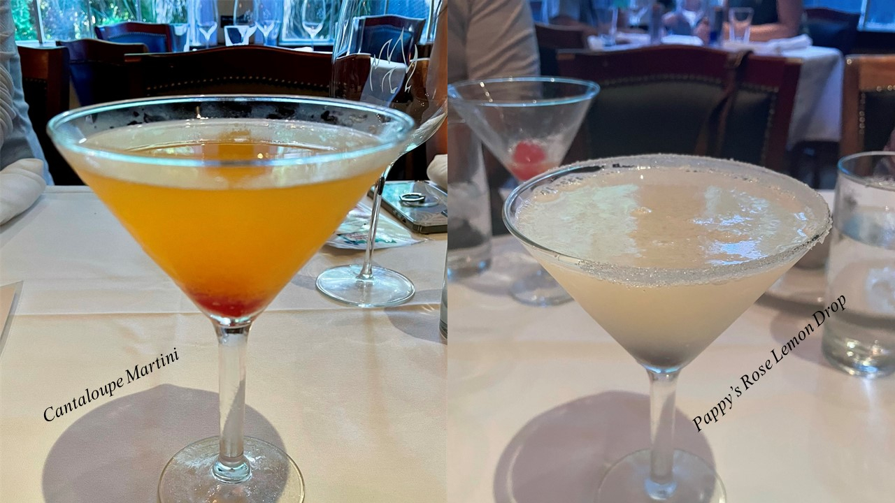 Cantaloupe Martini and Pappy's Rose Lemon Drop