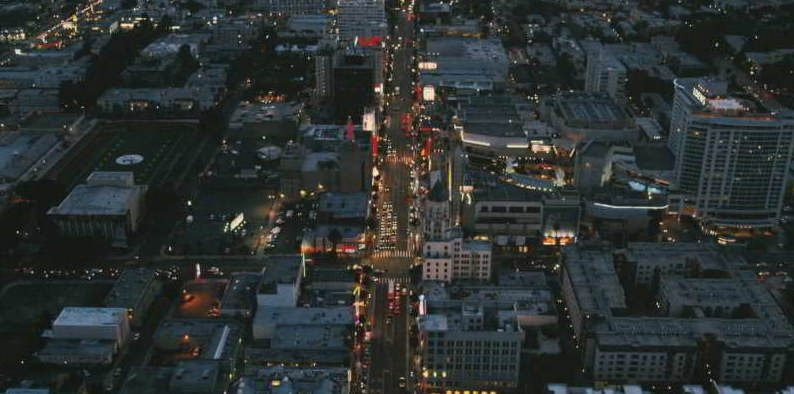 When Yulian is introduced, the aerial footage is from Hollywood Boulevard and Highland in Los Angeles