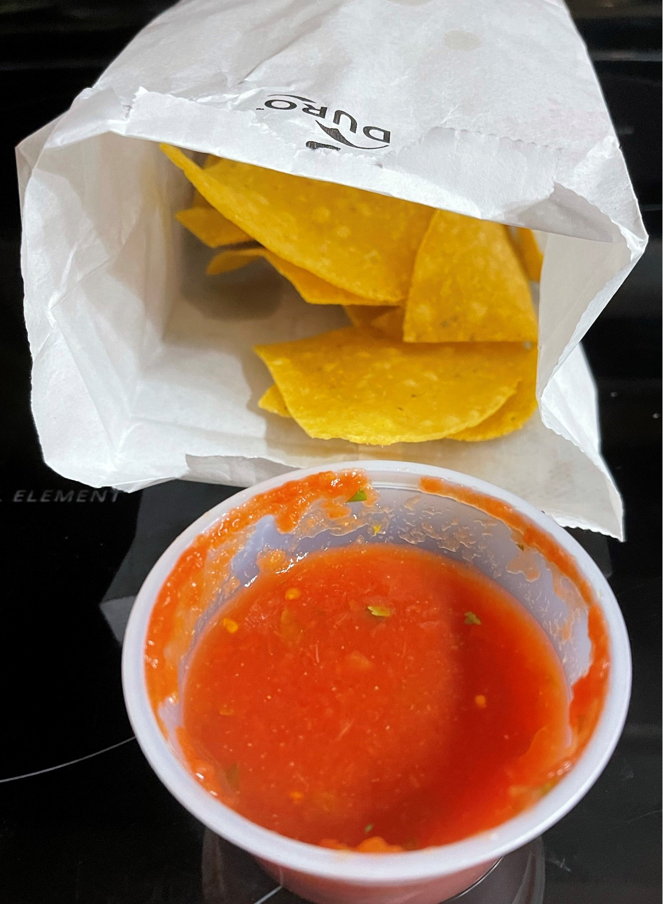 Chips and salsa from Sr. Tequila Mexican Grill